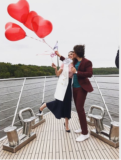 Светлана Абрамова со своим будущим мужем.